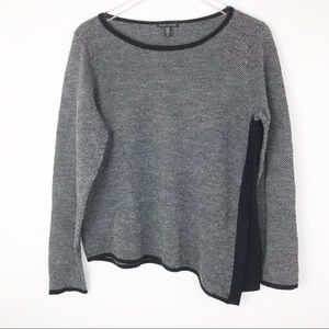 Eileen Fisher Asymmetrical Wool Blend Sweater